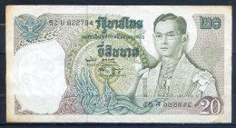 506-Thailande Billet De 20 Baht 1971-81 52U622 - Thailand
