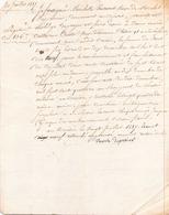 ACTE NOTARIE DU 20 JUILLET 1819 OBLIGATION AU CROISIC - Manoscritti