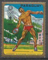Paraguay 1970. Scott #1262a (MNH) Summer Olympics Munich, Discus - Paraguay