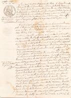 ACTE NOTARIE DU 13 DECEMBRE 1843 COMMANDEMENT DE SAISIE A GUERANDE - Manoscritti