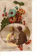 FANTAISIE--couple D'amoureux--( Fleurs )voir 1 Scan - Femmes