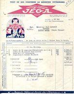 """37.INDRE & LOIRE.TOURS.TOUT CE QUI CONCERNE LA MEDECINE VETERINAIRE.LABORATOIRES """" JEGA """" 15-17 RUE F.ROOSEVELT. - France"""