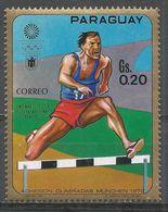 Paraguay 1970. Scott #1262c (MNH) Summer Olympics Munich, Men's Hurdles - Paraguay