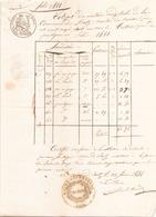ACTE NOTARIE DU 13 FEVRIER 1844 EXTRAIT DES MATRICES CADASTRALES A BATZ - Manuscripts