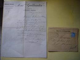 Facture + Enveloppe Illustrées 1890 Maximin Guilhaudin Tuyaux En Terre Cuite à Bollène Vaucluse - France