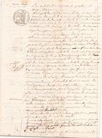 ACTE NOTARIE DU 11 MARS 1844 SAISIE IMMOBILIERE AU POULIGUEM - Manoscritti