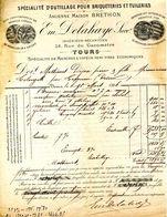 37.INDRE & LOIRE.TOURS.SPECIALITE D'OUTILLAGE POUR BRIQUETERIES & TUILERIES.E.DELAHAYE INGENIEUR MECANICIEN. - France