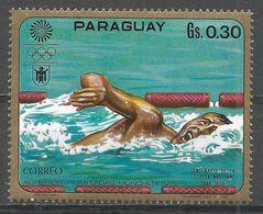 Paraguay 1970. Scott #1262e (MNH) Summer Olympics Munich, Swimming - Paraguay