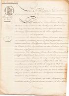 ACTE NOTARIE DU 24 JANVIER 1845 OBLIGATION DE 500 FRANCS AU POULIGUEM - Manoscritti