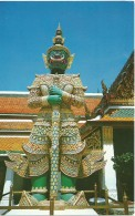 Thailand - A Giant Standing On The Ground Of The Emerald Buddah Temple, Bangkok - Thailand