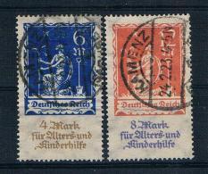 Deutsches Reich 1922 Mi.Nr. 233/34 Gest. Geprüft - Deutschland