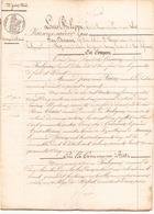 ACTE NOTARIE DU 22 JUIN 1846 TRANSPORT DE CREANCE AU POULIGUEM - Manoscritti
