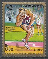 Paraguay 1970. Scott #1263 (MNH) Summer Olympics Munich, Shotput - Paraguay