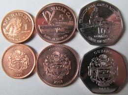 Guyana Set Of 3 Coins  1996-2008 (1+5+10 Dollars) Unc - Guyana