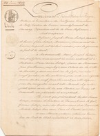 ACTE NOTARIE DU 24 JUIN 1844 VENTE AU CROISIC - Manoscritti