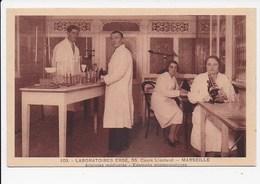 CPA 13 MARSEILLE Laboratoire Erbé 55 Cours Lieutaud Analyses Medicales Examens Microscopiques - Salute