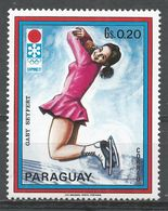 Paraguay 1972. Scott #1406c (MNH) Winter Olympics Sapporo, Gaby Seyfert, Figure Skating - Paraguay