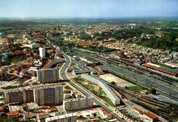16 ANGOULEME VUE GENERALE AERIENNE LA GARE ET LES NOUVEAUX IMMEUBLES - Angouleme