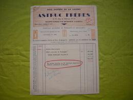 Facture Illustrée 1949 Astruc Frères Bois Ouvrés St Chély D'Apcher Lozère - France