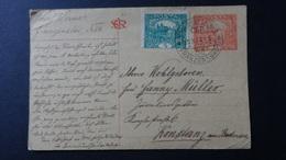 Czechoslovakia - 1919 - Mi: P 14 O With Additional Stamp - Postal Stationery - Look Scans - Entiers Postaux