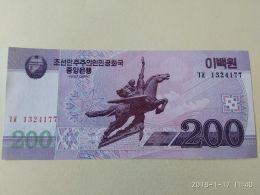 200 Won 2008 - Korea, North