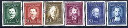 YUGOSLAVIA 1960 Yugoslav Personalities, Used.  Michel 935-40 - 1945-1992 Socialist Federal Republic Of Yugoslavia