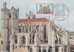 Carte Maximum 1er Jour   Cathédrale   SAINT JUST     NARBONNE    1972 - Cartes-Maximum