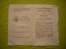 Bulletin Des Lois De 1849 N°199 Relatif à La Fondation D'un établissement De Soeurs à Florac - Wetten & Decreten