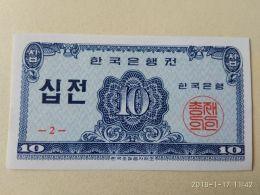 10 Jeon 1962 - Corea Del Sud