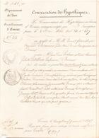 ACTE NOTARIE DU 21 JANVIER 1847 A EVREUX CONSERVATION DES HYPOTHEQUES - Manoscritti
