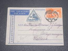 INDES NÉERLANDAISES  - Enveloppe Par Avion Pour Les Pays Bas En 1934  - L 12319 - Nederlands-Indië