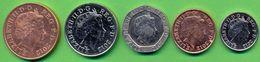 Great Britain UK Coins Set 2012 XF - UNC (Set 5pc.) ( 1 2 5 10 20 Pence) - 1971-… : Decimal Coins