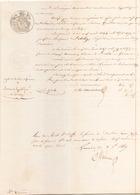 ACTE NOTARIE DU 29 JUIN 1849 A EVREUX CONSERVATION DES HYPOTHEQUES - Manoscritti