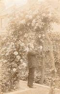 Photo Ancien / Foto / CPA / Postcard / Homme / Man / Garden / Jardin / England / 1912 - Anonymous Persons