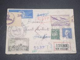 """FRANCE - Enveloppe De Paris Pour La Turquie En 1943 , Contrôle Postal , étiquette Turque """"non Réclamé"""" - L 12321 - Poststempel (Briefe)"""