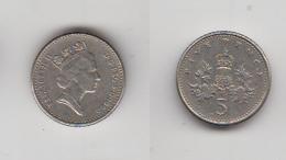 FIVE PENCE 1990 - 1971-… : Monnaies Décimales