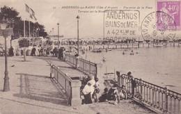 ANDERNOS-les-BAINS: Terrasse Sur La Nouvelle Jetée ,flamme  Année 36 - Andernos-les-Bains
