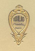 Etiquette Gaufrée Parfum Idilio Jean Giraud Fils PARIS Format : 1,8 Cm X 3,4 Cm En Superbe.Etat - Etiquettes