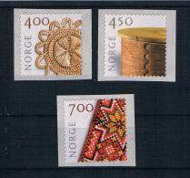 Norwegen 2001 Kunsthandwerk Mi.Nr. 1368/70 Kpl. Satz ** - Norwegen