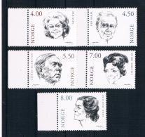 Norwegen 2001 Schauspieler Mi.Nr. 1371/75 Kpl. Satz ** - Norwegen