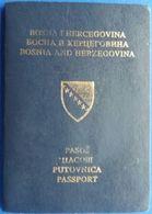 Passport Bosnia And Herzegovina 2002 Exp 2007 Visas China Belgium Germany Austria - Historical Documents