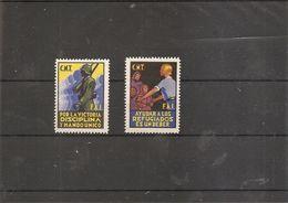 """Espagne - Guerre Civile ( Lot De 2 Vignettes Privées """"CNT - FAI) - Spanish Civil War Labels"""