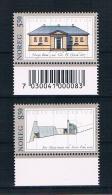 Norwegen 2001 Architektur Mi.Nr. 1387/88 Kpl. Satz ** - Norwegen