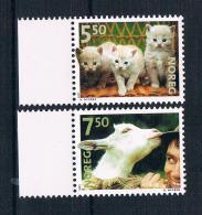 Norwegen 2001 Tiere Mi.Nr. 1409/10 Kpl. Satz ** - Norwegen