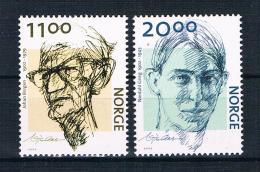 Norwegen 2002 Schriftsteller Mi.Nr. 1438/39 Kpl. Satz ** - Norwegen