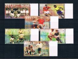 Norwegen 2002 Fußball Mi.Nr. 1440/45 Kpl. Satz ** - Norwegen