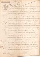ACTE NOTARIE DU 28 MARS 1844 VENTE D UN TERRAIN DE LABOUR A BATZ - Manoscritti