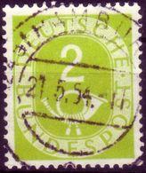 HAMBURG Zentrischer Vollstempel 21. 5. 54 Auf Posthorn Nr. 123 - [7] République Fédérale