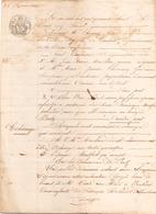 ACTE NOTARIE DU 25 FEVRIER 1848 ECHANGE DE MARAIS SALANT A BATZ - Manuscripts