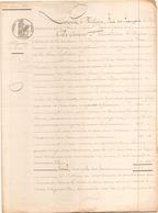 ACTE NOTARIE DU 16 JUIN 1847 OBLIGATION DE 2100 FRANCS AU POULIGUEM - Manuscripts